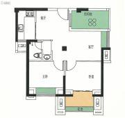 霞浦金顶国际2室2厅1卫69平方米户型图