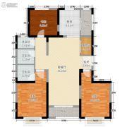 东尚天誉3室2厅2卫99平方米户型图