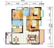 锦绣花园3室2厅2卫120平方米户型图