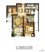 华润国际社区2室2厅1卫90平方米户型图