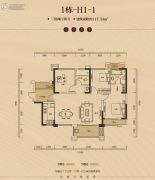 长房・半岛蓝湾3室2厅2卫117平方米户型图