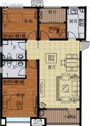 国信紫玉台3室2厅2卫110平方米户型图