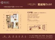碧桂园城市花园3室2厅1卫91平方米户型图