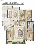绿城・御京府东区4室3厅2卫211平方米户型图