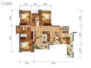 合能璞丽3室2厅2卫89平方米户型图