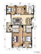 新天地・金色时光4室2厅2卫128平方米户型图