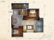 东泓福源国际2室2厅1卫0平方米户型图