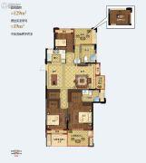 天阳尚景国际二期4室2厅2卫129平方米户型图