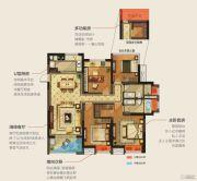 华润幸福里4室2厅2卫135平方米户型图