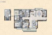 信达金茂广场3室2厅2卫143平方米户型图