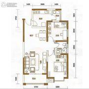 天娇苑・幸福城2室2厅1卫81平方米户型图