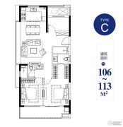 绿地海湾2室2厅2卫0平方米户型图