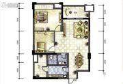 广厦名都2室2厅1卫91平方米户型图
