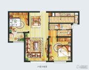朗诗绿色街区2室2厅1卫95平方米户型图