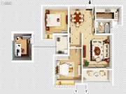 和昌湾景国际3室2厅1卫0平方米户型图