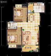 亲亲里2室2厅1卫83平方米户型图