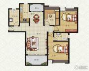 山畔景苑3室2厅2卫124平方米户型图
