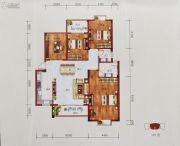 百丰花园3室2厅3卫133平方米户型图