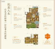 乐富强・悦湖山院4室2厅2卫238平方米户型图