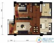 华远九都汇2室2厅1卫108平方米户型图