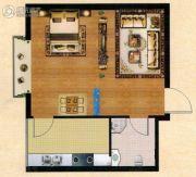 汇佳・世纪花园1室2厅1卫0平方米户型图