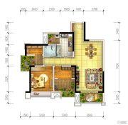 宏创・龙湾半岛2室2厅1卫89平方米户型图
