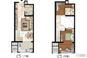 太原嘉地中心5室2厅1卫96平方米户型图