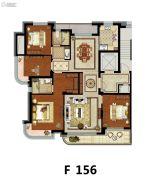 方远天韵水岸4室2厅2卫156平方米户型图