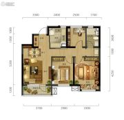 万科城市阳光3室2厅1卫95平方米户型图