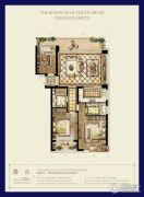 时代滨江3室2厅2卫120平方米户型图