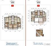 公园19033室2厅3卫160平方米户型图