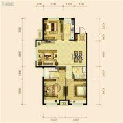 金地铁西檀府3室2厅2卫113平方米户型图