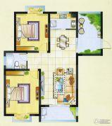 明瑞花园2室2厅1卫88平方米户型图