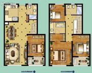 中航樾公馆4室2厅3卫127平方米户型图