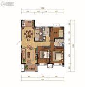碧桂园・天汇3室2厅2卫137平方米户型图