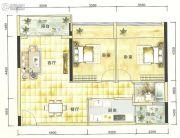 港城星座2室2厅1卫80--110平方米户型图