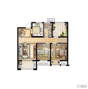 华润国际社区3室2厅1卫90平方米户型图