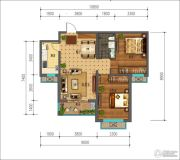同美生活区2室2厅1卫87平方米户型图