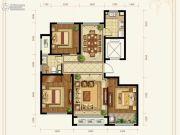 绿城百合花园紫薇园二期3室2厅1卫129平方米户型图