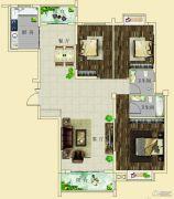 上海花园・新外滩3室2厅2卫118--120平方米户型图