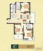 云海观澜3室2厅1卫123平方米户型图