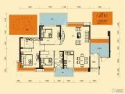 丽景湾上3室2厅2卫123平方米户型图