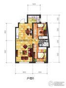 辽阳凯旋门广场2室2厅1卫82平方米户型图