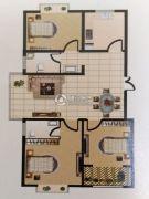 广厦黄金花园3室2厅2卫138平方米户型图