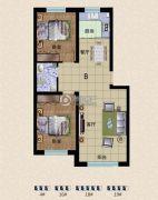 东方俪城2室2厅1卫0平方米户型图