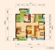 君汇上品3室2厅2卫89平方米户型图