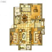 碧桂园银亿・大城印象3室2厅2卫110平方米户型图