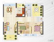 港宏世家3室2厅0卫89平方米户型图