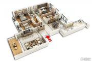 裕和天地4室2厅2卫177平方米户型图