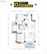 象山博望园3室2厅1卫86平方米户型图
